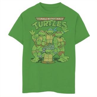 Nickelodeon Boys 8-20 Graphic Teenage Mutant Ninja Turtles Classic Retro Logo Graphic Tee