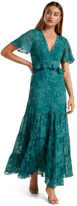 Forever New Ida embroidered Tiered Maxi Dress