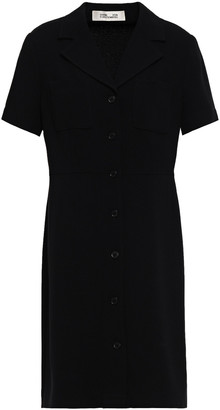 Diane von Furstenberg Crepe Mini Shirt Dress