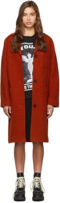 McQ Orange Pocket Caban Coat