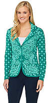 Isaac Mizrahi Live! Engineered Paisley Sweater Blazer