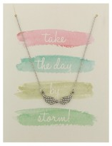 """Charlotte Women's Greeting Card and Necklace Set """"Take The Day By Storm"""""""