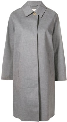 MACKINTOSH Light Teal Grey Bonded Cotton Coat LR-020