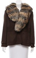 Escada Fur-Trimmed Camel Jacket