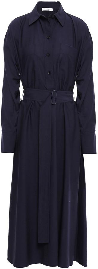 Vince Twill Midi Shirt Dress