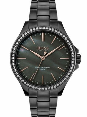 HUGO BOSS Womens Analogue Classic Quartz Watch with Stainless Steel Strap 1502458
