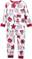 Joe Fresh Toddler Girls' Fleece Sleeper, Off White (Size 5)