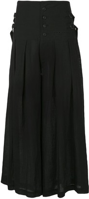 Yohji Yamamoto Pleated Buckle Skirt