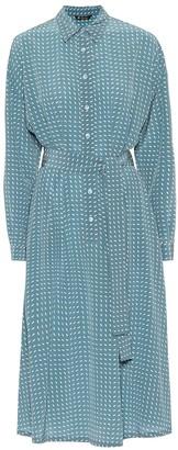 Loro Piana Careen silk midi shirt dress