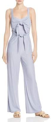Sage the Label Wild One Striped Tie-Detail Jumpsuit