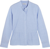 Madewell Cotton Peplum Shirt - Sky blue