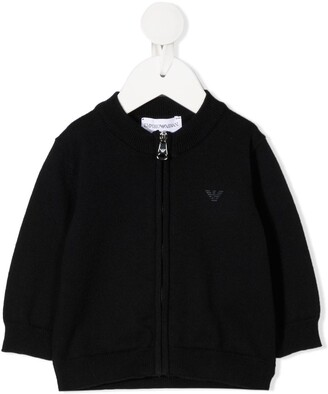 Emporio Armani Kids Chest Logo Cardigan