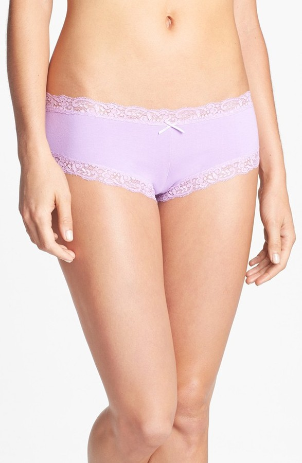 Make + Model Lace Trim Cheeky Briefs