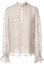 Alexis Lucy blouse - women - Silk/Nylon/Polyester/Metallized Polyester - S
