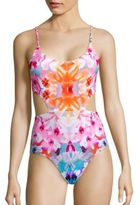 6 Shore Road Printed Cutout One-Piece