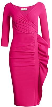 Chiara Boni Flormali Ruffle Midi Dress