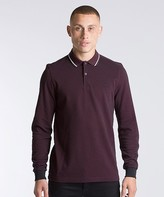 Fred Perry Twin Tipped Long Sleeved Polo Shirt