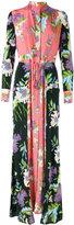 Diane von Furstenberg panelled longsleeve floral dress - women - Silk - 6