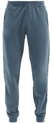 Sunspel Drawstring-waist Cotton-jersey Track Pants - Dark Blue