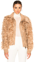 3.1 Phillip Lim Double Collar Faux Fur Bomber Jacket in Neutrals.