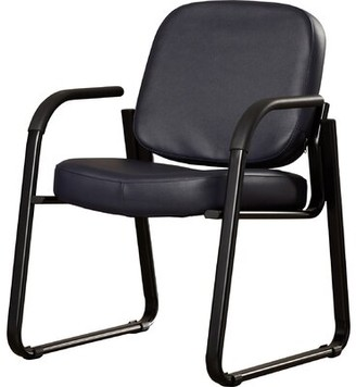 Ebern Designs Galloway Guest Chair Seat Color: Black