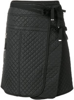 Diesel Black Gold quilted a-line skirt