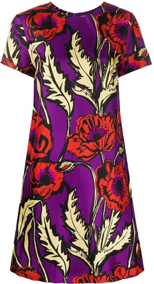 La DoubleJ Swing Big Blooms-print dress