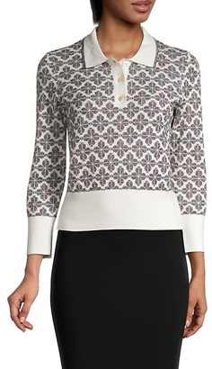 Kate Spade Spade Flower Short Polo Sweater