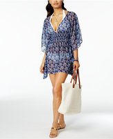 Jessica Simpson Vine About It Open-Back Tunic Cover-Up
