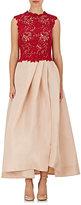 Monique Lhuillier Women's Guipure-Lace & Gazar Gown-BURGUNDY