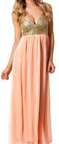Romwe Strapless Pink Empire Dress
