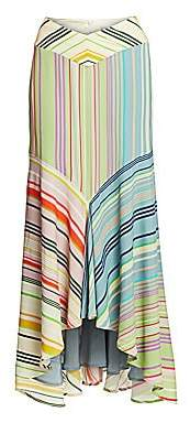 Silvia Tcherassi Women's Beverly Striped Maxi Skirt