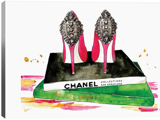 iCanvas Pink Diamond Heels By Kelsey Mcnatt Wall Art