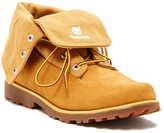 Timberland Authentic Fabric Fold Down Wheat Boot (Big Kid)