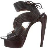 Proenza Schouler Embossed Platform Sandals