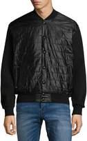 PRPS Men's Mailbox Waffle-Sleeved Jacket