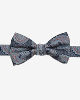 Ted Baker Paisley Silk Bow Tie Blue