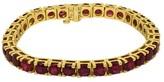 18K Yellow Gold Rubies Ladies Tennis Bracelet