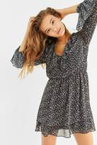 Urban Outfitters Tiered V-Neck Long Sleeve Dress