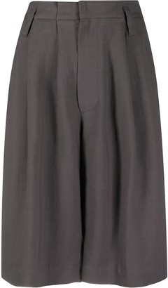 Brunello Cucinelli High-Waisted Knee-Length Shorts