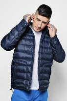 boohoo Hooded Puffer Jacket With In-Built Headphones