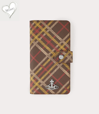 Vivienne Westwood Derby Flap Iphone Case Xs Max Brown Tartan