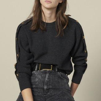 Sandro Sweater With Jewelled Buttons