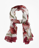 Brooks Brothers Silk Tulip Oblong Scarf