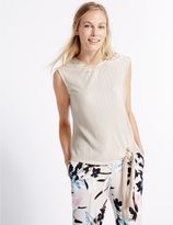 Marks and Spencer Tie Side Round Neck Sleeveless T-Shirt
