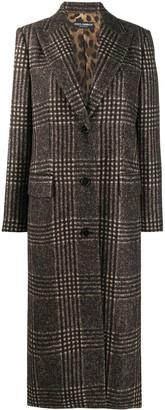 Dolce & Gabbana Checked Long-Length Coat