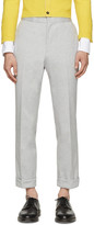 Thom Browne Grey Mélange Oxford Trousers
