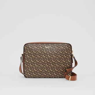 Burberry Monogram Print E-canvas Messenger Bag