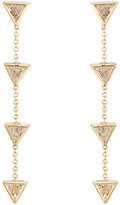 Jennifer Meyer Women's Trillion-Cut White Diamond Chain Earrings