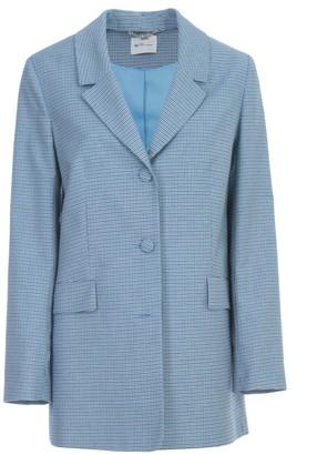 Be Blumarine Single Breasted Micro Checked Jacket